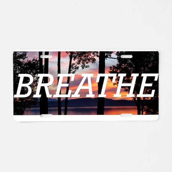 Cool Breathe Aluminum License Plate