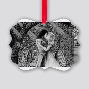 Farewell to the Wall of Roses Picture Ornament