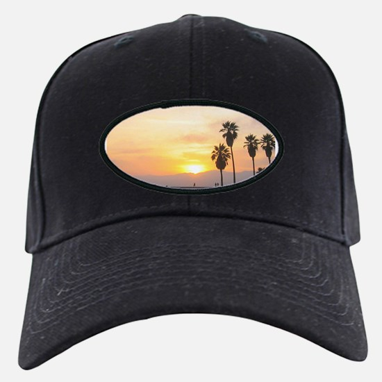 Beach Sunset with Palm Trees Baseball Hat