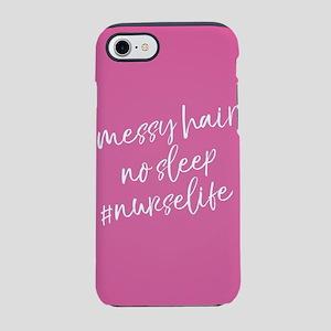 Messy Hair No Sleep Nurse Li iPhone 8/7 Tough Case