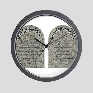 The Ten Commandments Wall Clock