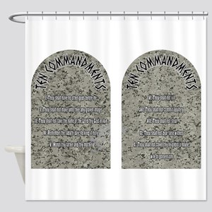 The Ten Commandments Shower Curtain