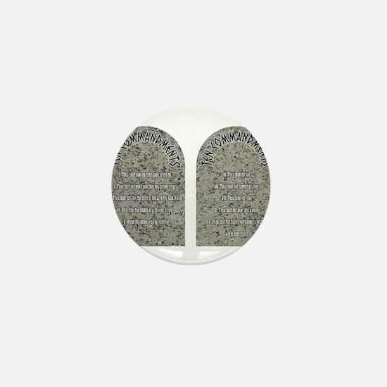 The Ten Commandments Mini Button