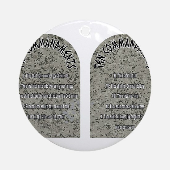 The Ten Commandments Round Ornament