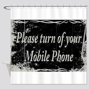 Silent Movie Frame Cell Phone Shower Curtain