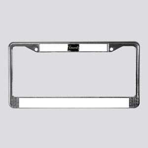 Silent Movie Frame Sensored License Plate Frame