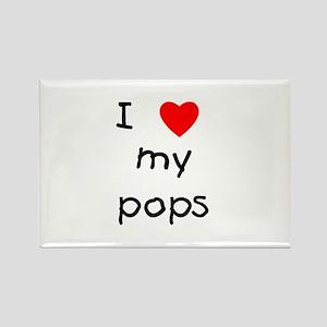 I love my pops Rectangle Magnet
