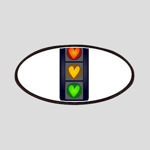 Love Heart Traffic Lights Patch