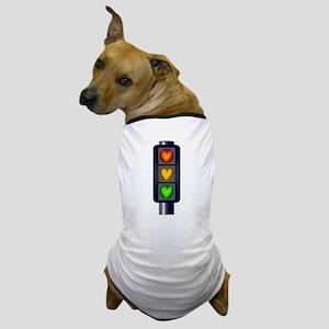 Love Heart Traffic Lights Dog T-Shirt