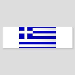 The Greek Flag Bumper Sticker