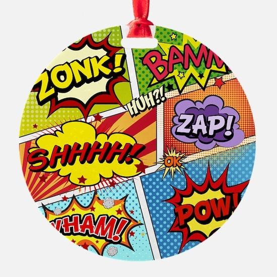 Colorful Comic Ornament