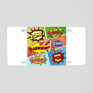 Colorful Comic Aluminum License Plate