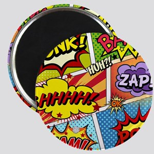 Colorful Comic Magnets