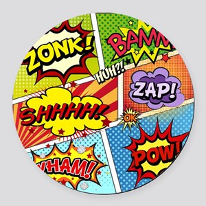 Colorful Comic Round Car Magnet