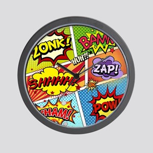 Colorful Comic Wall Clock