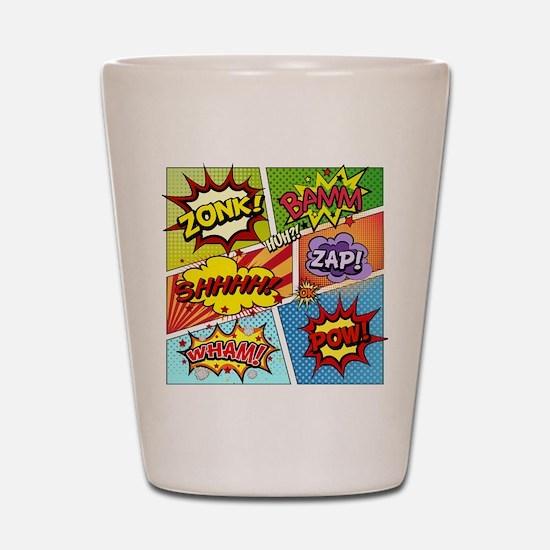 Colorful Comic Shot Glass
