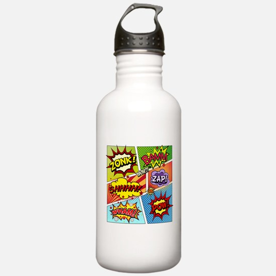 Colorful Comic Water Bottle