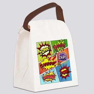 Colorful Comic Canvas Lunch Bag