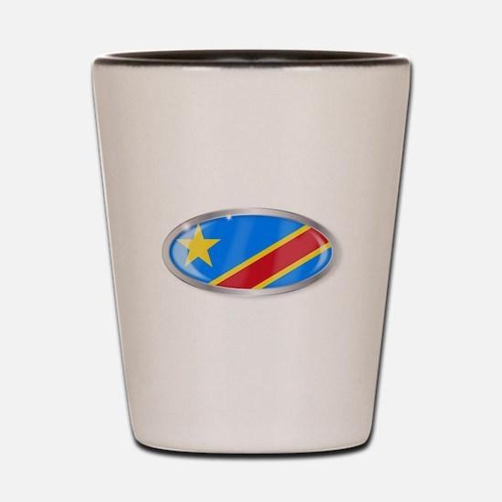 Democratic Republic of the Congo Flag O Shot Glass