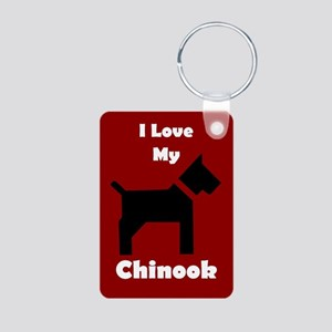 I Love My Chinook Dog Keychain Keychains