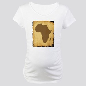 Old African Map Maternity T-Shirt