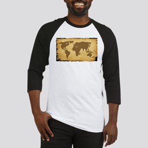 Old World Map On Parchment Baseball Jersey