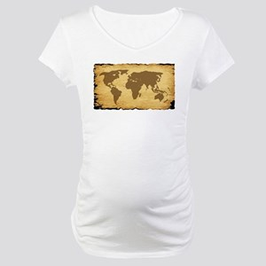 Old World Map On Parchment Maternity T-Shirt