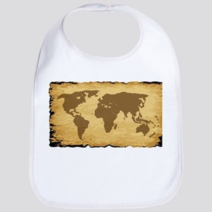 Old World Map On Parchment Bib