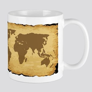 Old World Map On Parchment Mugs