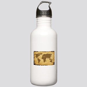 Old World Map On Parch Stainless Water Bottle 1.0L
