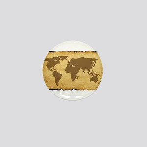 Old World Map On Parchment Mini Button