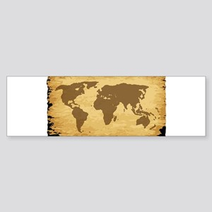 Old World Map On Parchment Bumper Sticker