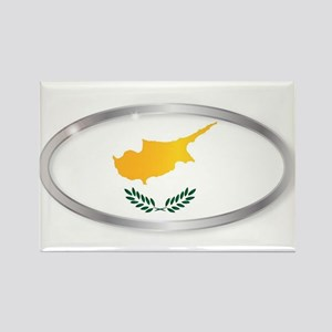 Cyprus Flag Oval Button Magnets