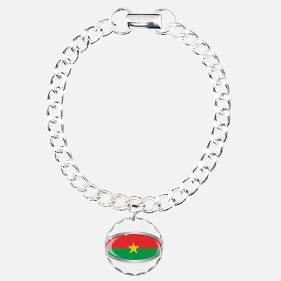 Burkina Faso Flag Oval B Bracelet