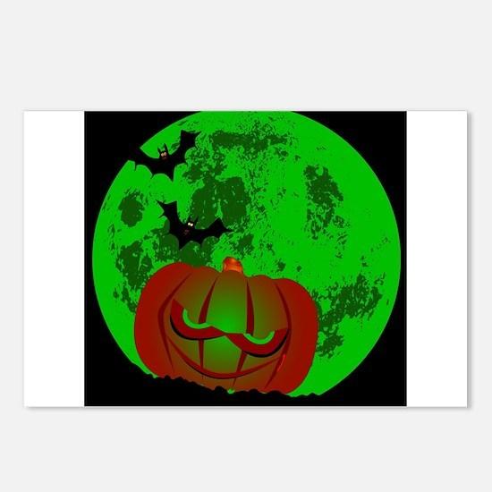 Full Halloween Moon Postcards (Package of 8)