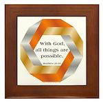 Possible with God Framed Tile