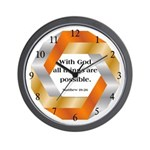Possible with God Wall Clock