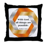 Possible with God Throw Pillow