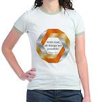 Possible with God Jr. Ringer T-Shirt