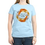 Possible with God Women's Light T-Shirt