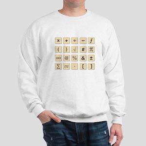 Wooden Math Symbols Sweatshirt