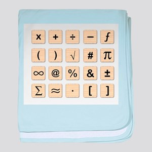 Wooden Math Symbols baby blanket