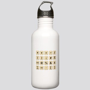 Wooden Math Symbols Stainless Water Bottle 1.0L