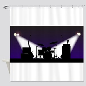 Rock Band Stage Equipent Shower Curtain