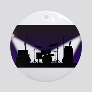Rock Band Stage Equipent Round Ornament