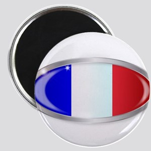 French Flag Oval Button Magnets