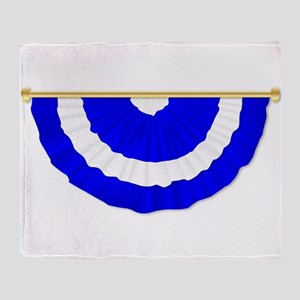 Scottish Blue and White Bunting Throw Blanket