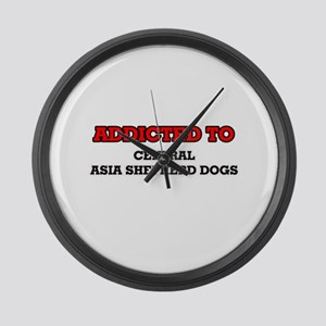 Addicted to Central Asia Shepherd Large Wall Clock