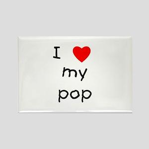 I love my pop Rectangle Magnet