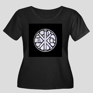 Alpha Omega Glass Window Plus Size T-Shirt